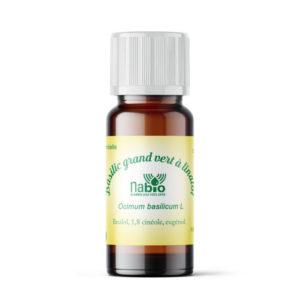 Nabio Huile essentielle Basilic Grand vert