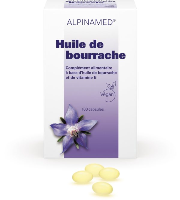 Huile de bourrache, Alpinamed®, 100 capsules